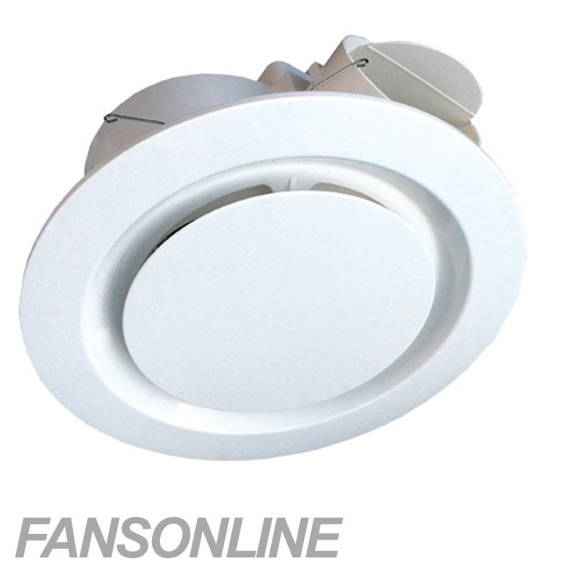 Ventair Airbus Ceiling Exhaust Fan White Low Profile
