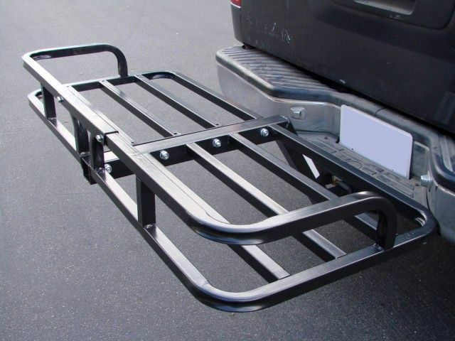 Steel Cargo Carrier Luggage Basket Receiver Hitch Mount