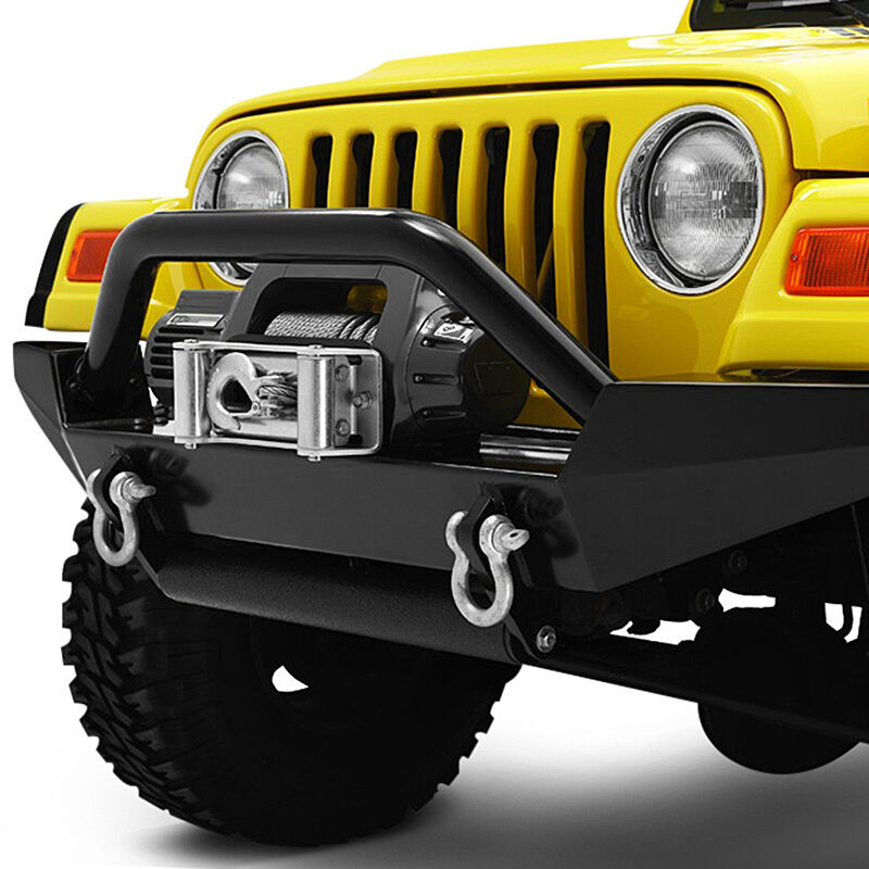 Jeep Grill Guards And Bumpers : Bestop highrock tubular grille guard jeep