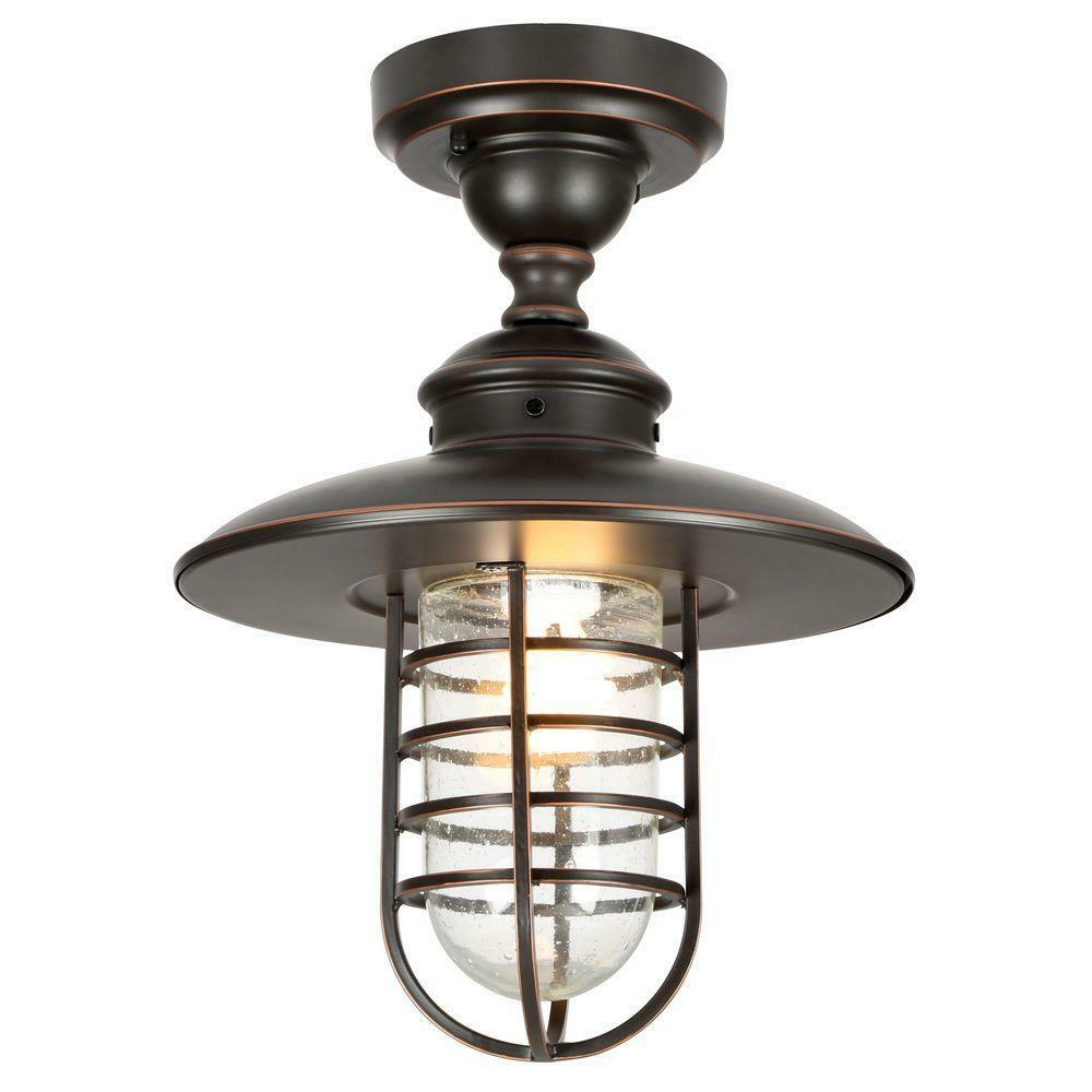 1 Light Outdoor Hanging Light Oil Rubbed Bronze Pendant