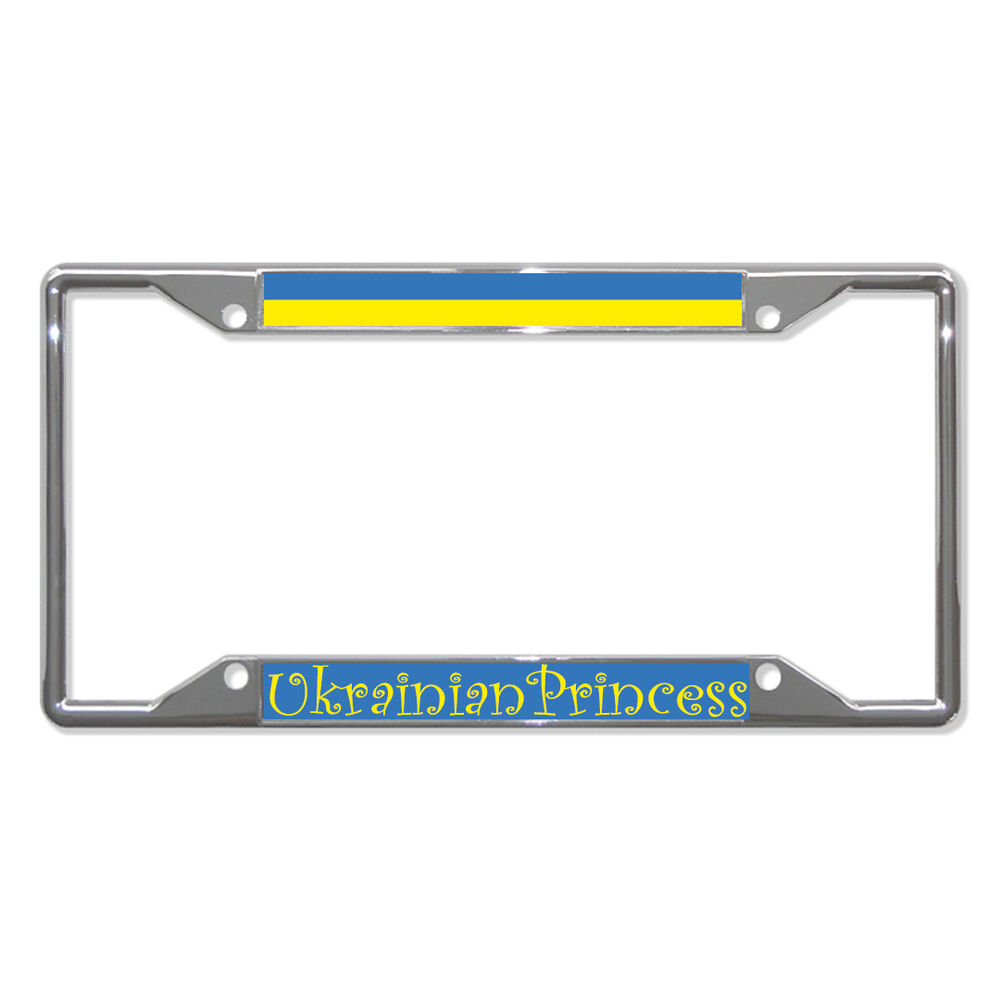Ukraine Ukrainian Princess Chrome Metal License Plate