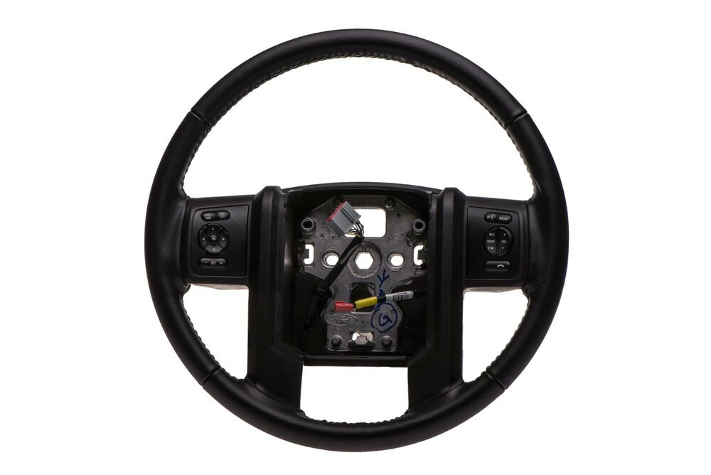 Ford F250 Parts >> 2013-2016 Ford F250 F350 Super Duty Black Leather Steering Wheel OEM DC3Z3600CA | eBay