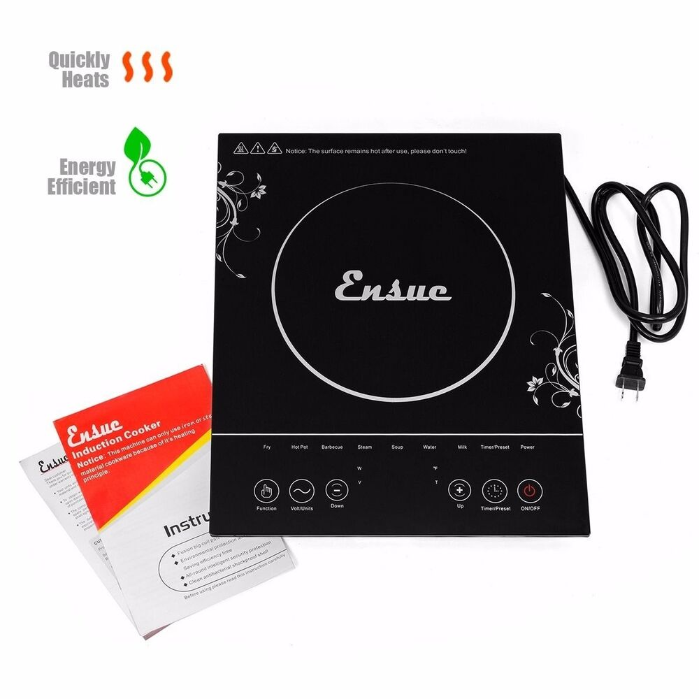 Countertop Induction Burner : Portable Electric Induction Cooktop Single Burner Countertop Heating ...