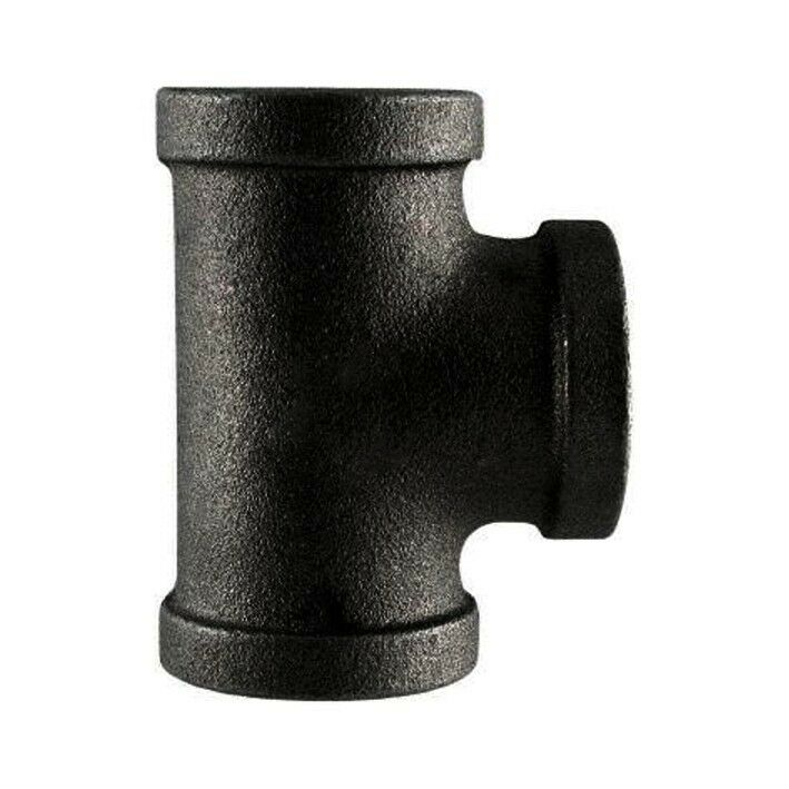 Black malleable iron tee threaded fpt fitting sizes