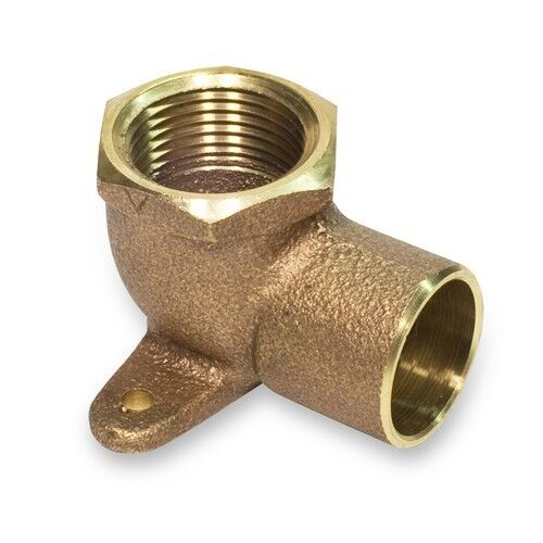 Quot brass drop ear elbow fitting degree angle c