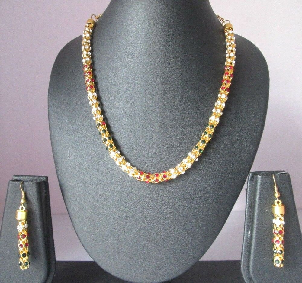 Indian Gold Plated Choker Necklace Traditional Bridal: Indian Fashion Jewelry Bollywood Bridal Gold Plated CZ