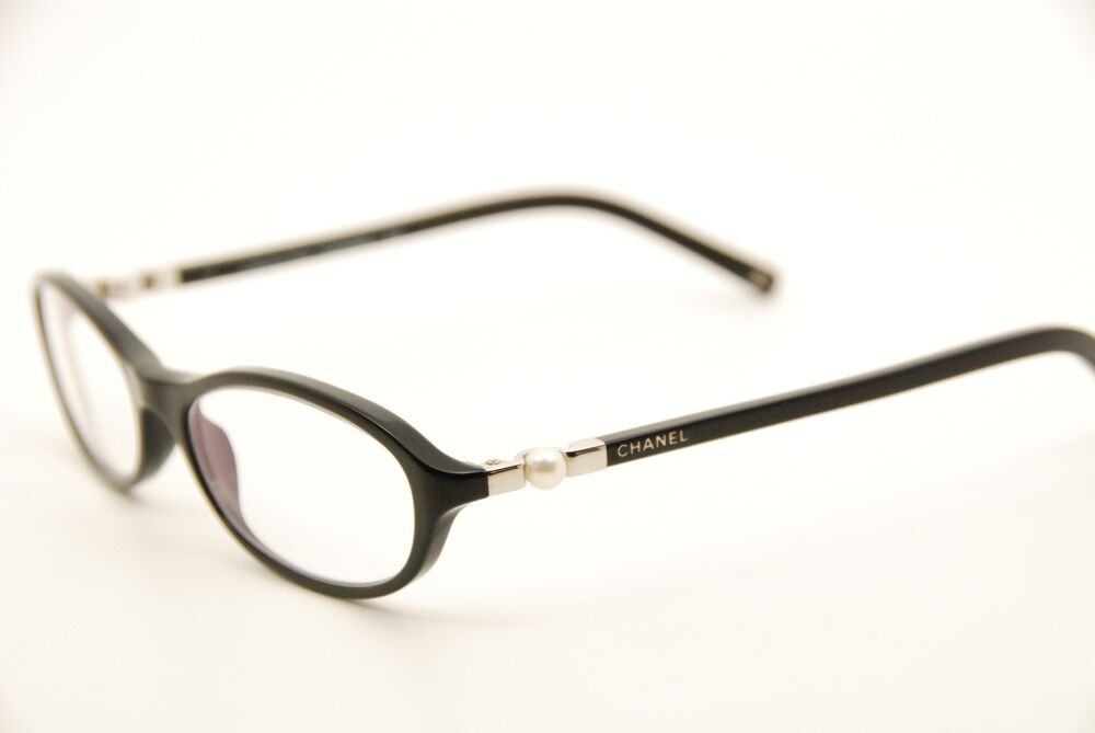 Chanel Eyeglass Frames With Pearls : New Authentic Rare Chanel 3153-H c.501 Black 53mm Pearl ...