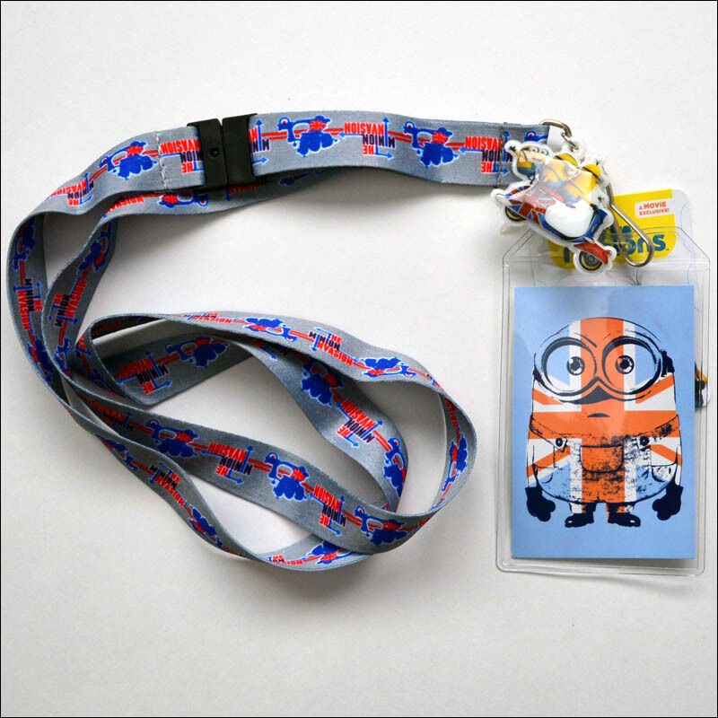 I LOVE MINIONS Lanyard Keychain ID Badge Holder DESPICABLE ME MINIONS