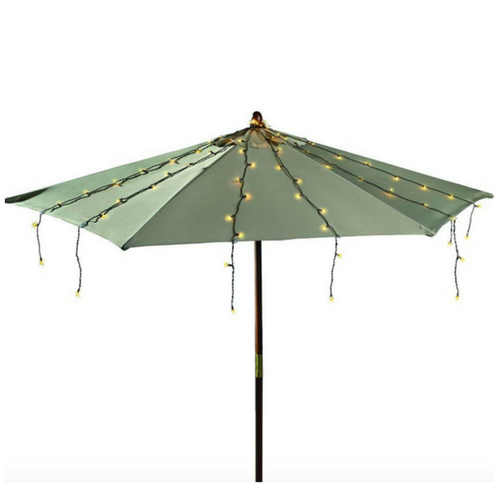 outdoor patio market umbrella string light lights lighting