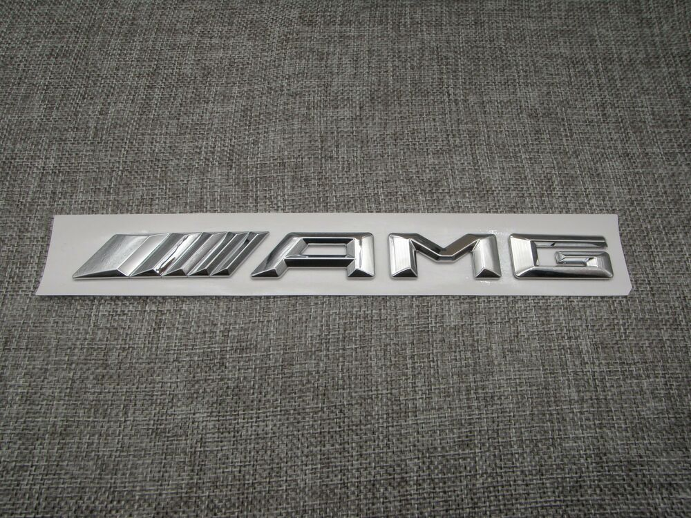 Chrome 3d amg chrome trunk letters badge emblem sticker for Mercedes benz trunk emblem