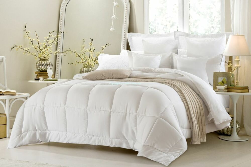 super oversized down alternative comforter fits pillow top mattress king queen ebay. Black Bedroom Furniture Sets. Home Design Ideas
