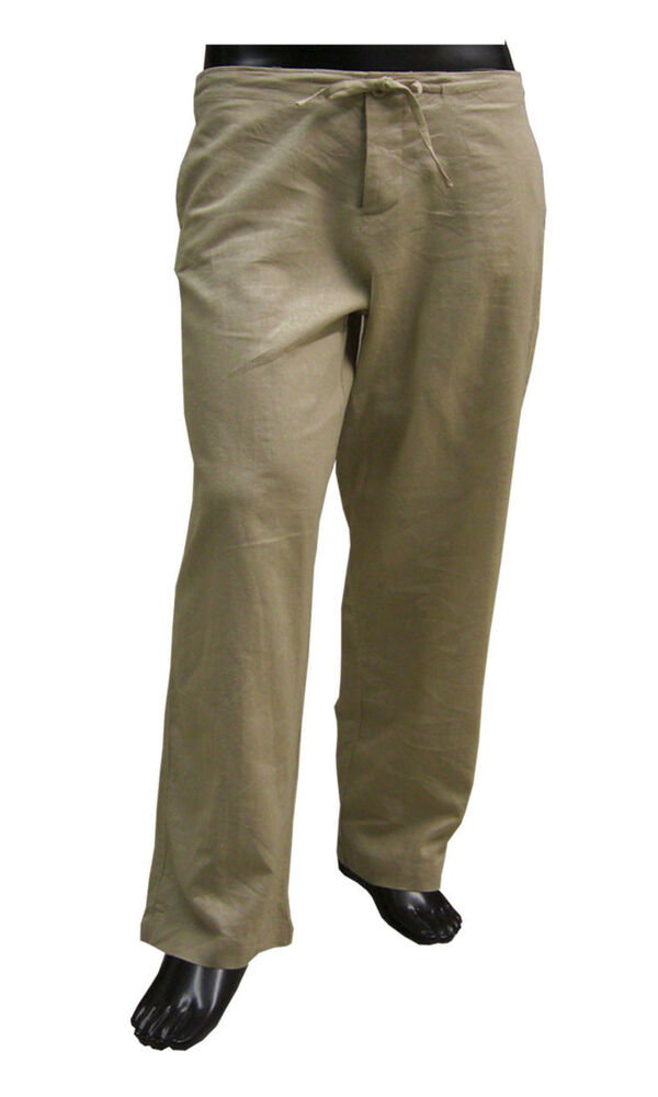 Mens Linen Pants Stay cool and enjoy the tropical islands in our casual men's drawstring linen pants or our formal linen suit pants in khaki, tan, gray, and more. Designed for .