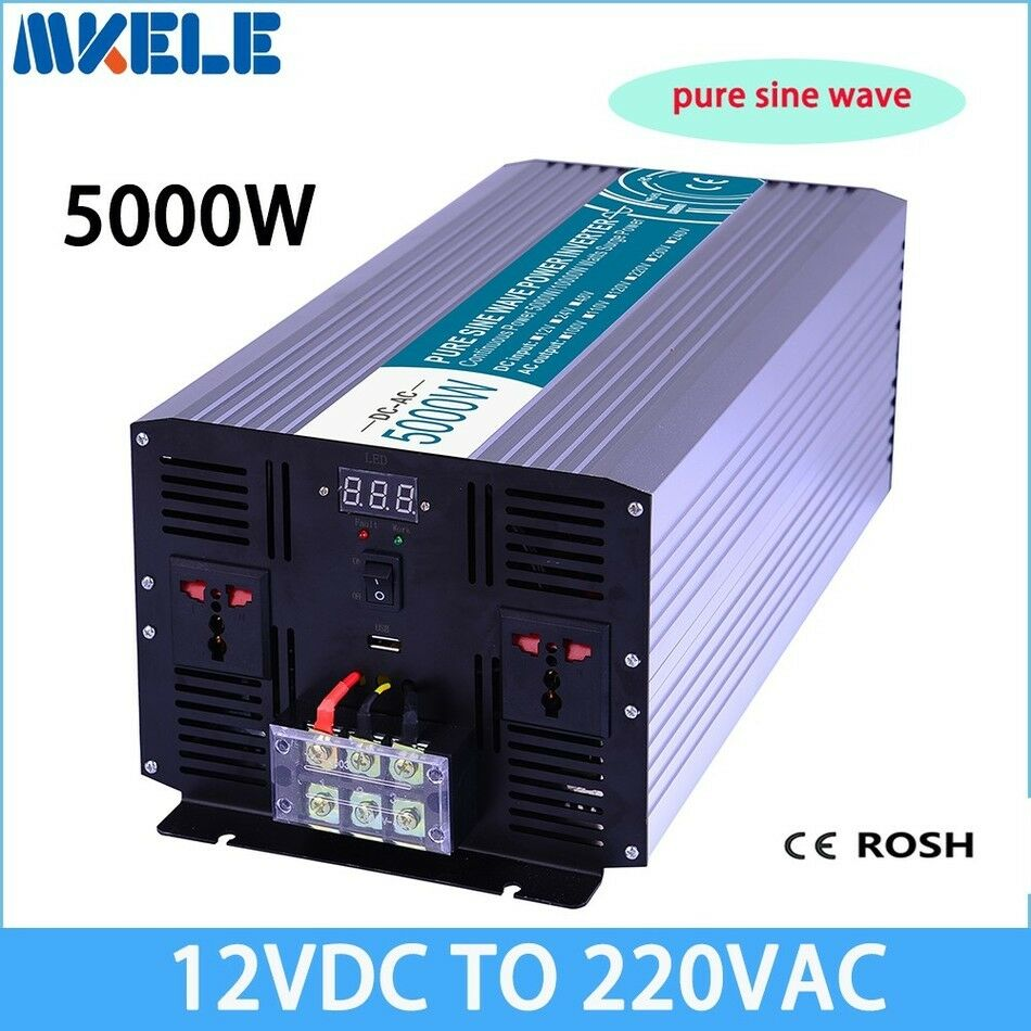 5000w Dc12v To Ac220v Pure Sine Wave Off Grid Solar Power