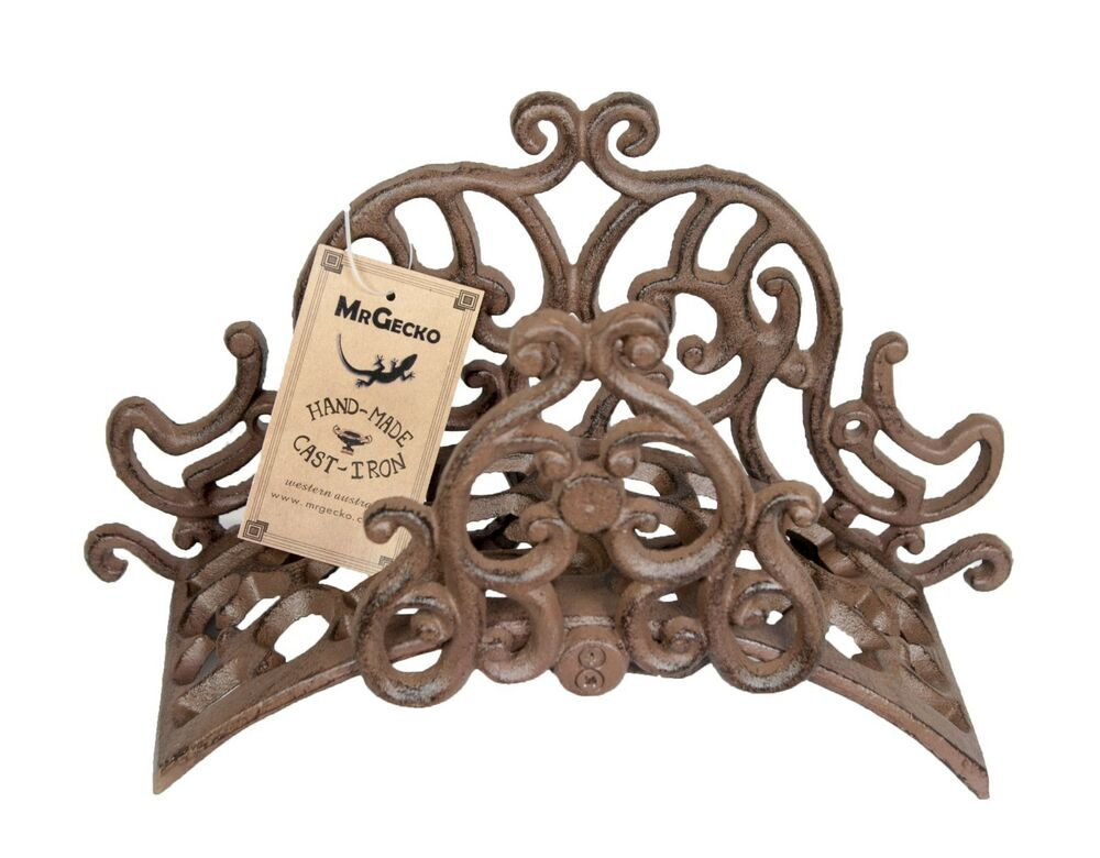 Hose Holder Cast Iron Flower Decorative Hose Reel Hanger