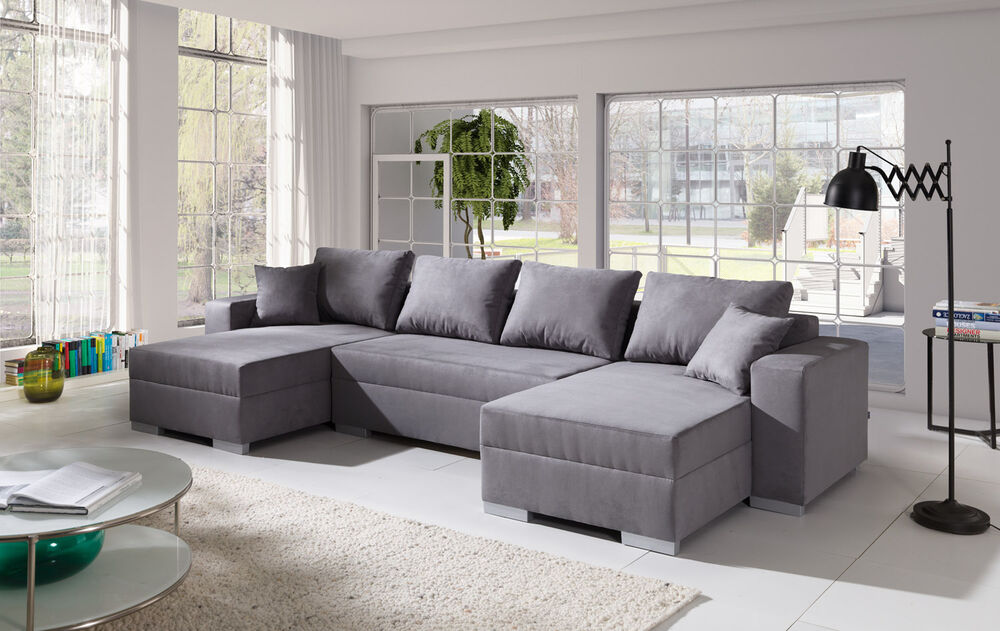 couch couchgarnitur sofa polsterecke 4112200 5 u wohnlandschaft schlaffunktion ebay. Black Bedroom Furniture Sets. Home Design Ideas