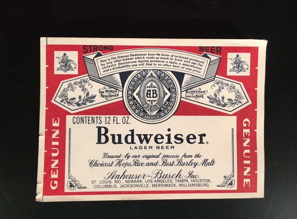 budweiser paper Shop budweiser collectibles available for buying here online browse budweiser collectibles in stock and ready for shipping right now online.