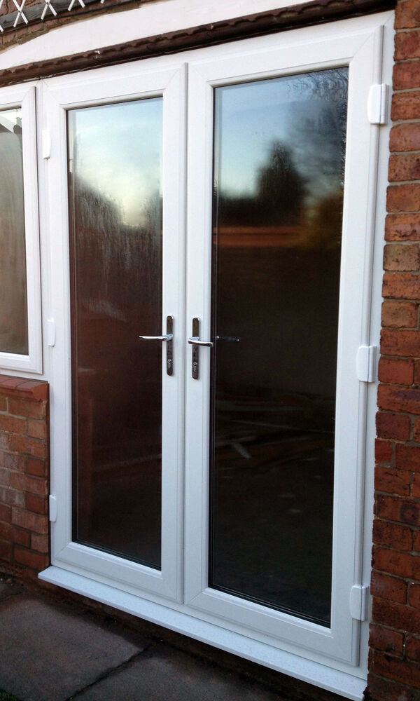 White upvc patio french door 1301 1400mm wide new not for Upvc balcony doors