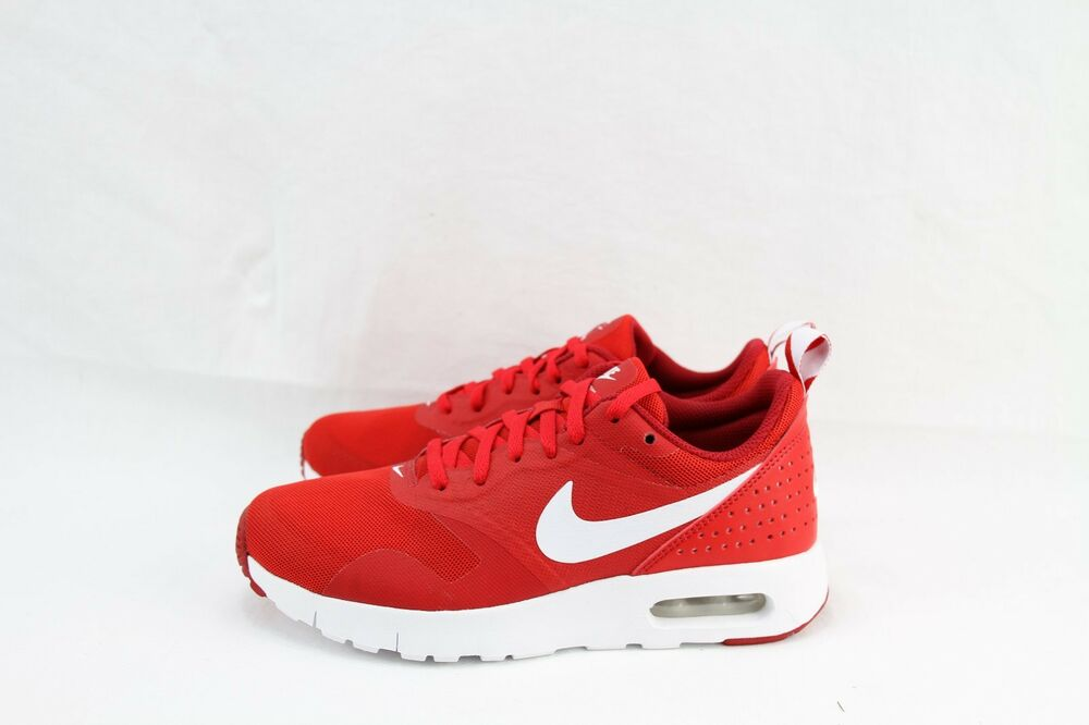 lowest price 161b2 7d506 Details about NIKE AIR MAX TAVAS (GS) 814443-601 UNIVERSITY RED WHITE-GYM  RED SZ  4,7 ONLY