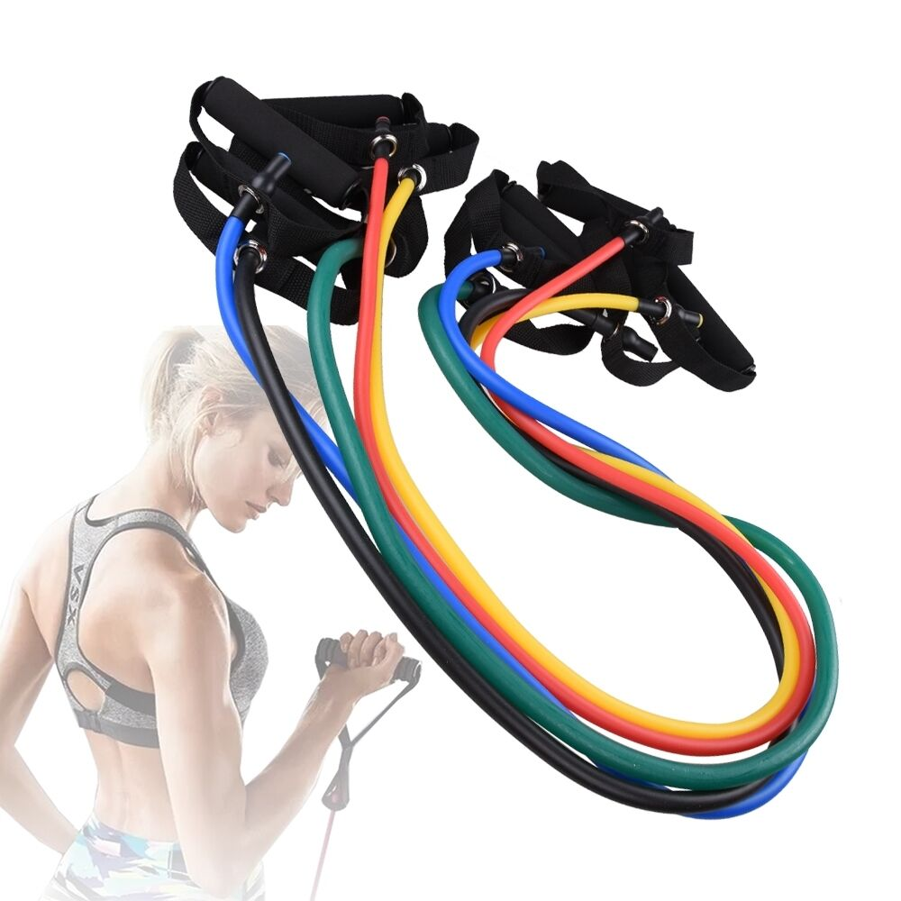 Exercise Stretch Bands Equipment: Fitness Equipment Resistance Bands Tube Workout Exercise
