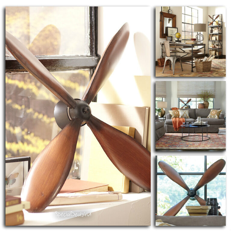 Vintage plane propeller wall hanging art home decor for Home decor wall hanging