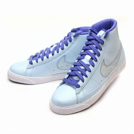 size 40 29d09 756d9 Details about 325064-401 Nike Blazer Mid (GS) Light BluePurple New In Box