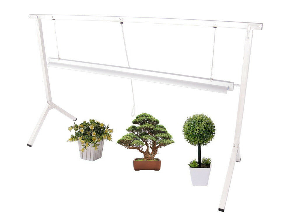 4ft Led Shop Light >> PLANT STAND RACK DLS841 with 4' T5 GROW LIGHT FIXTURE SEED ...