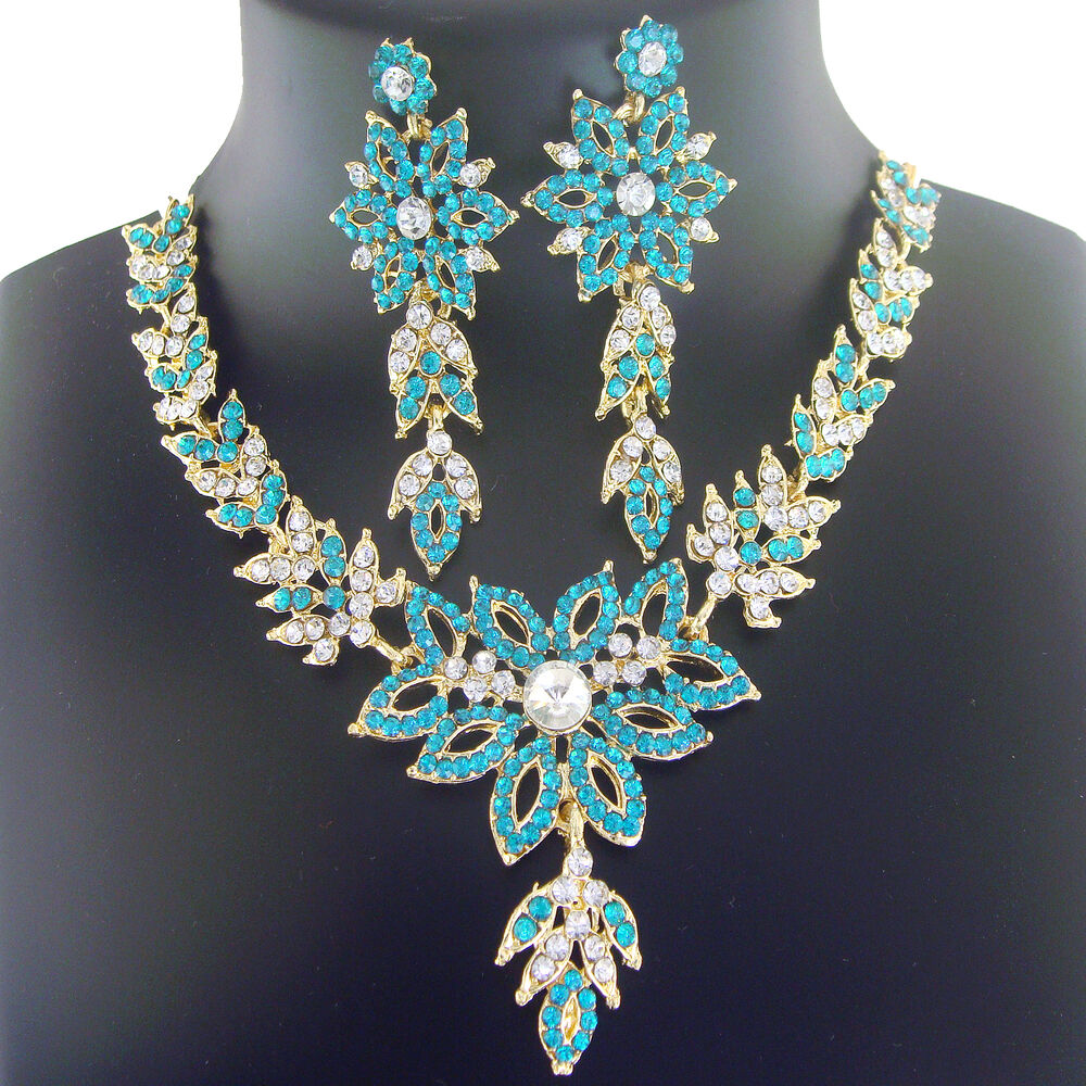 4056 Indian Bridal Jewelry Bollywood New Necklace Ethnic: Indian Bridal Jewelry Bollywood Necklace New Gold Fashion