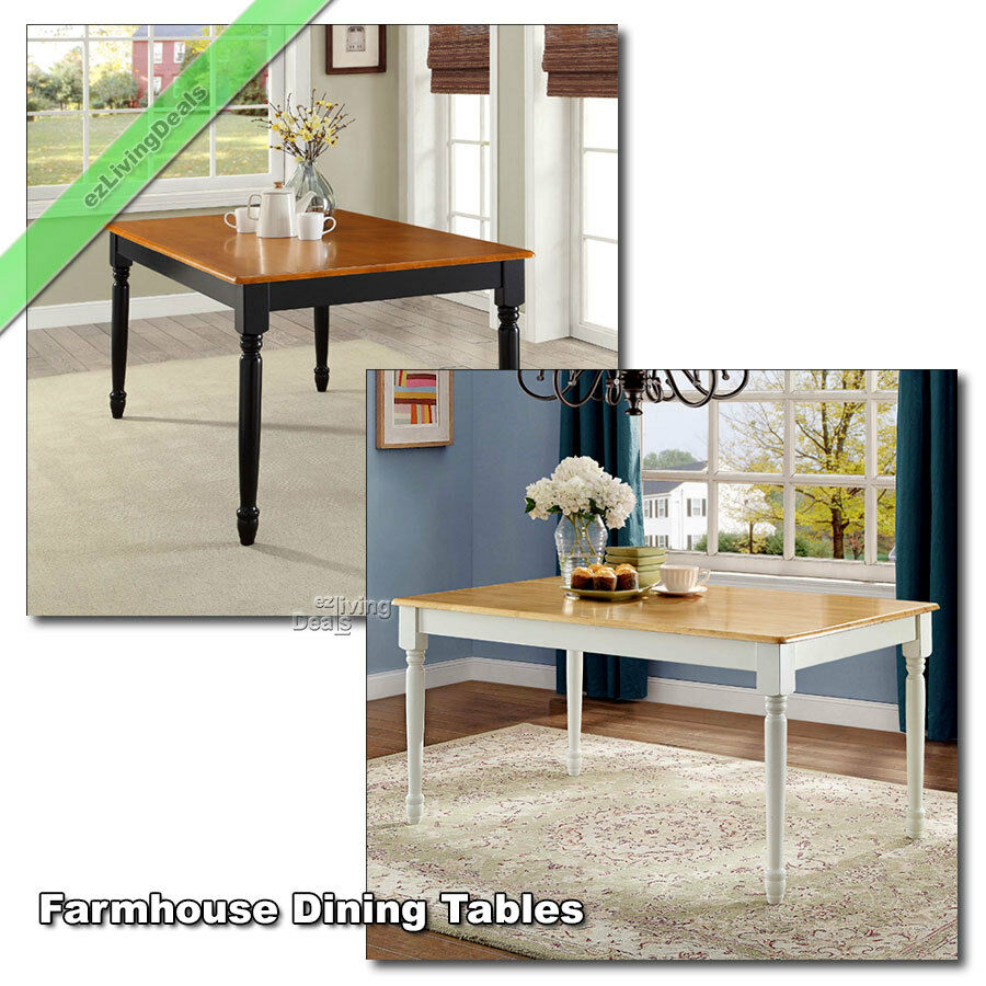 Farmhouse Kitchen And Dining Room Tables Country Wood