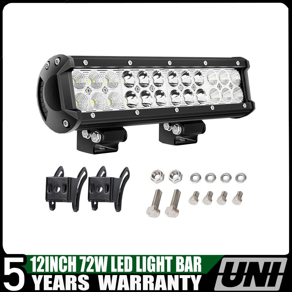 72w 12 inch cree led work light bar combo offroad jeep. Black Bedroom Furniture Sets. Home Design Ideas