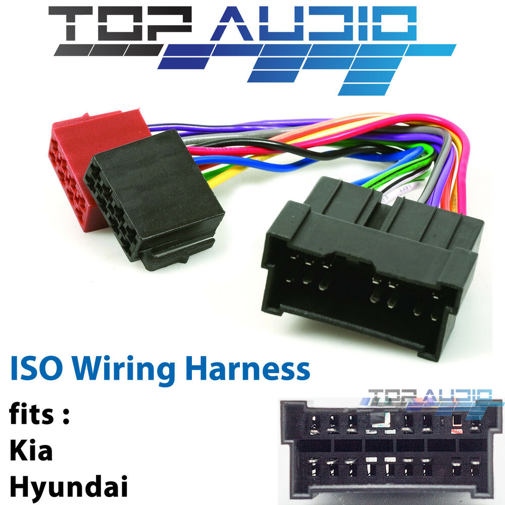 Fit Hyundai Tucson Iso Wiring Harness Adaptor Cable Connector Lead Loom Plug Ebay