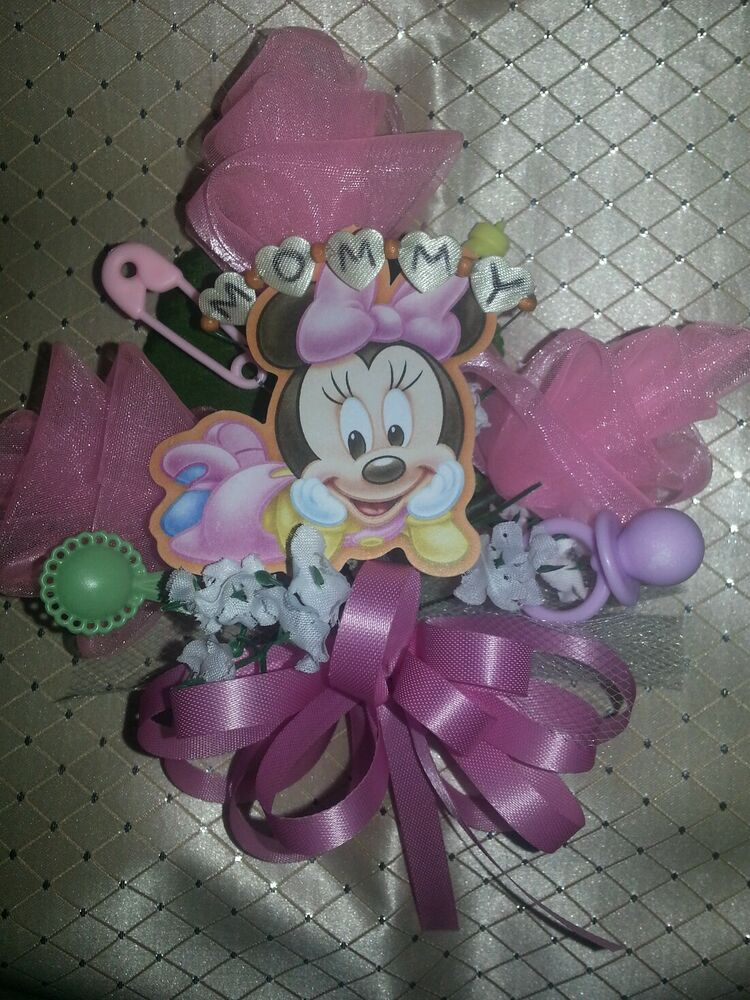 Mickey Minnie Mouse Donald Duck Pluto baby shower corsage