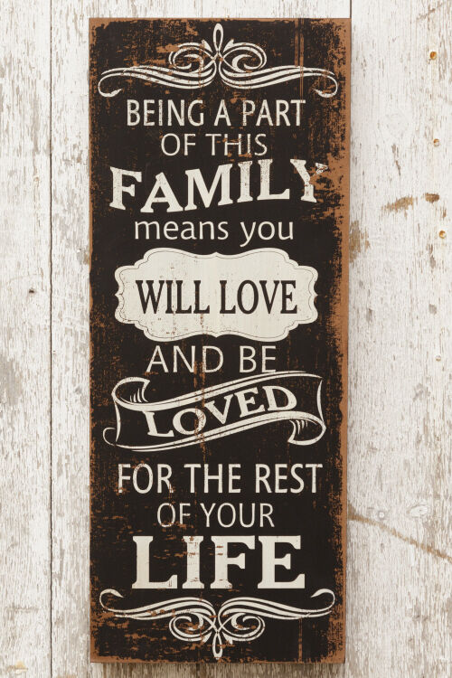 new primitive shabby being a part of this family means you are love rustic sign ebay. Black Bedroom Furniture Sets. Home Design Ideas
