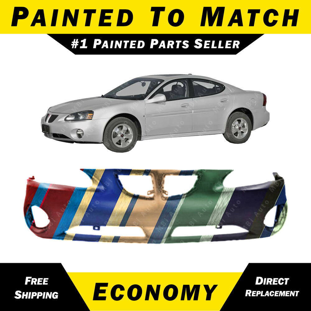 New Painted To Match Front Bumper Cover For 2004 2008 Pontiac Grand Prix Ebay