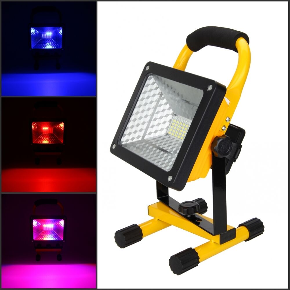 Portable Rechargeable RGB 36LED 50W Flood Spot Work Lamp