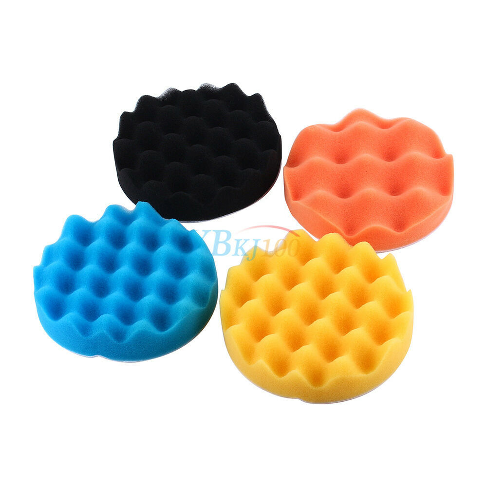 3/4/5/6/7 Inch 4pcs Car Polishing Waxing Foam Spong Buffer