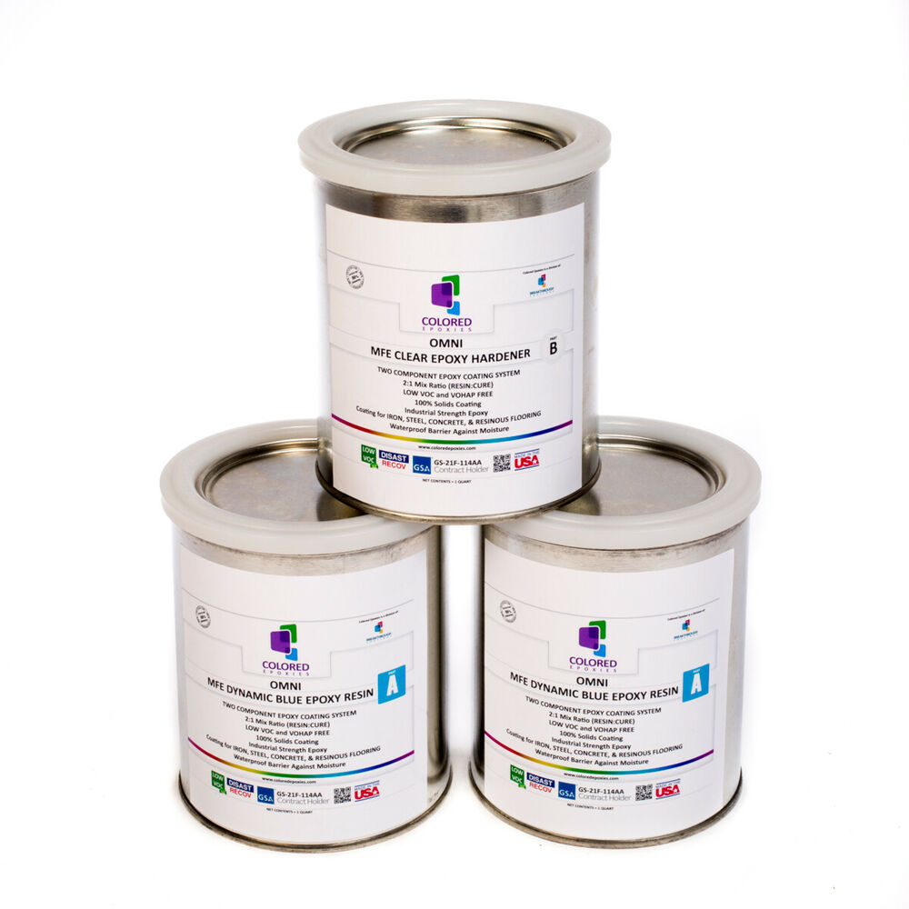 Light Blue Epoxy Resin 100 Solids For Garage Floor
