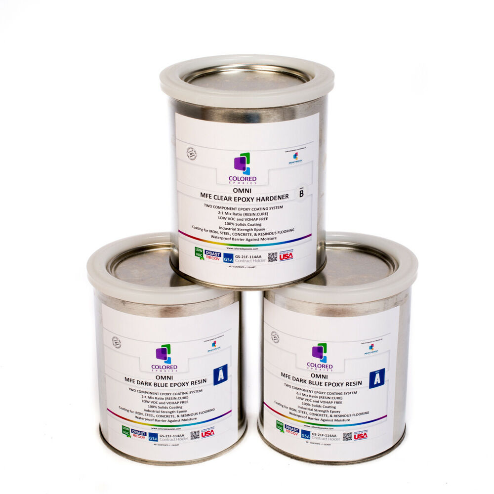 Dark blue epoxy resin 100 solids for garage floors for 100 solids epoxy floor paint
