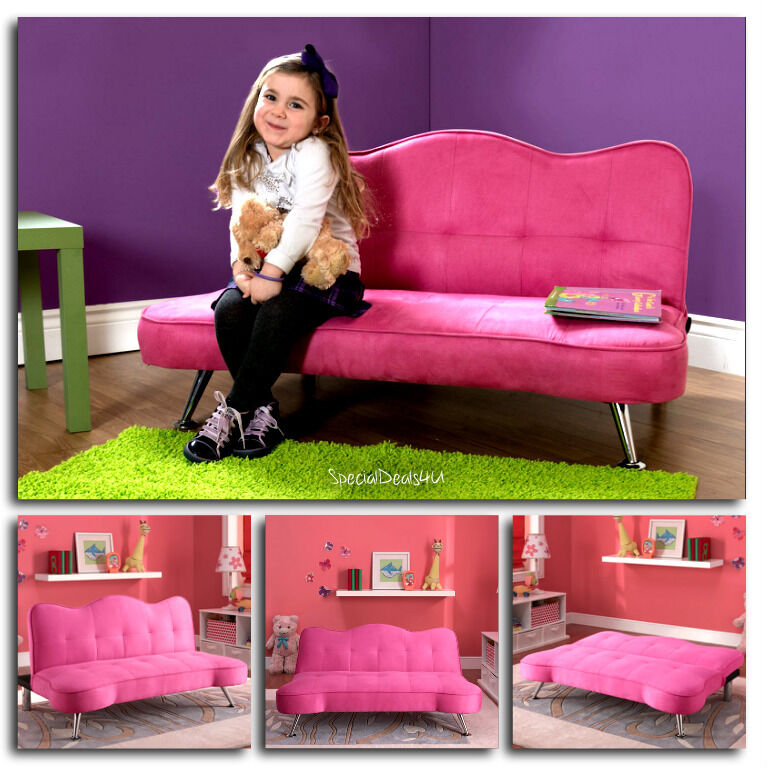 toddler chair bed pink sofa futon sleeper lounge chair 13543