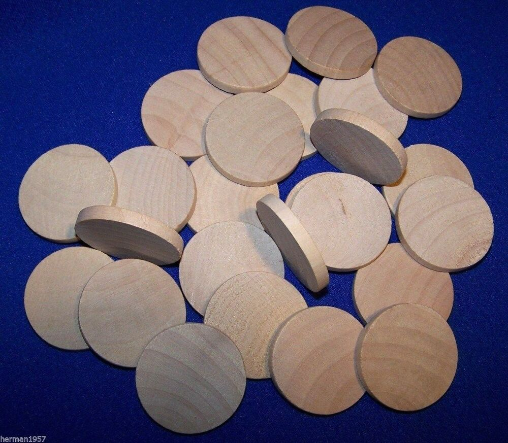 25 natural unfinished hardwood 1 1 2 wood circles discs for Wood circles for crafts