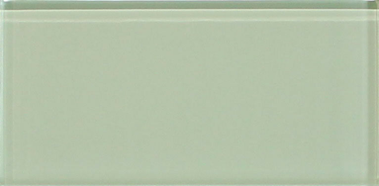 Sage Light Green 3x6 Glass Subway Tiles For Kitchen