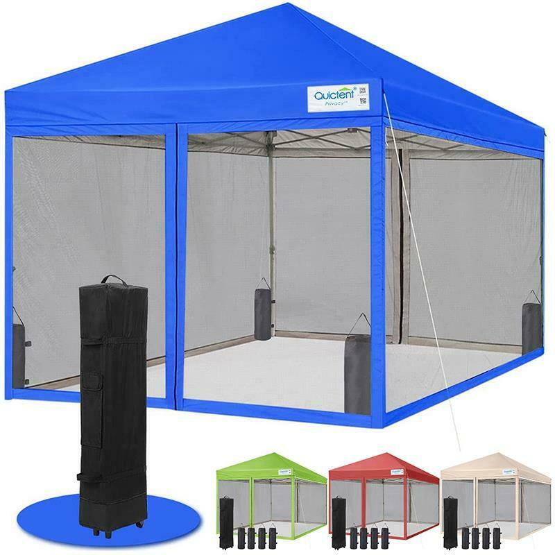 Quictent 10x10 Pop Up Gazebo Party Tent Canopy Mesh Screen