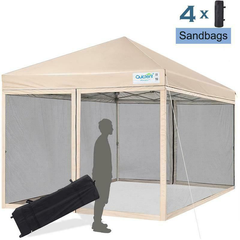Quictent 8x8 Pop Up Canopy Screen House Tent With Netting