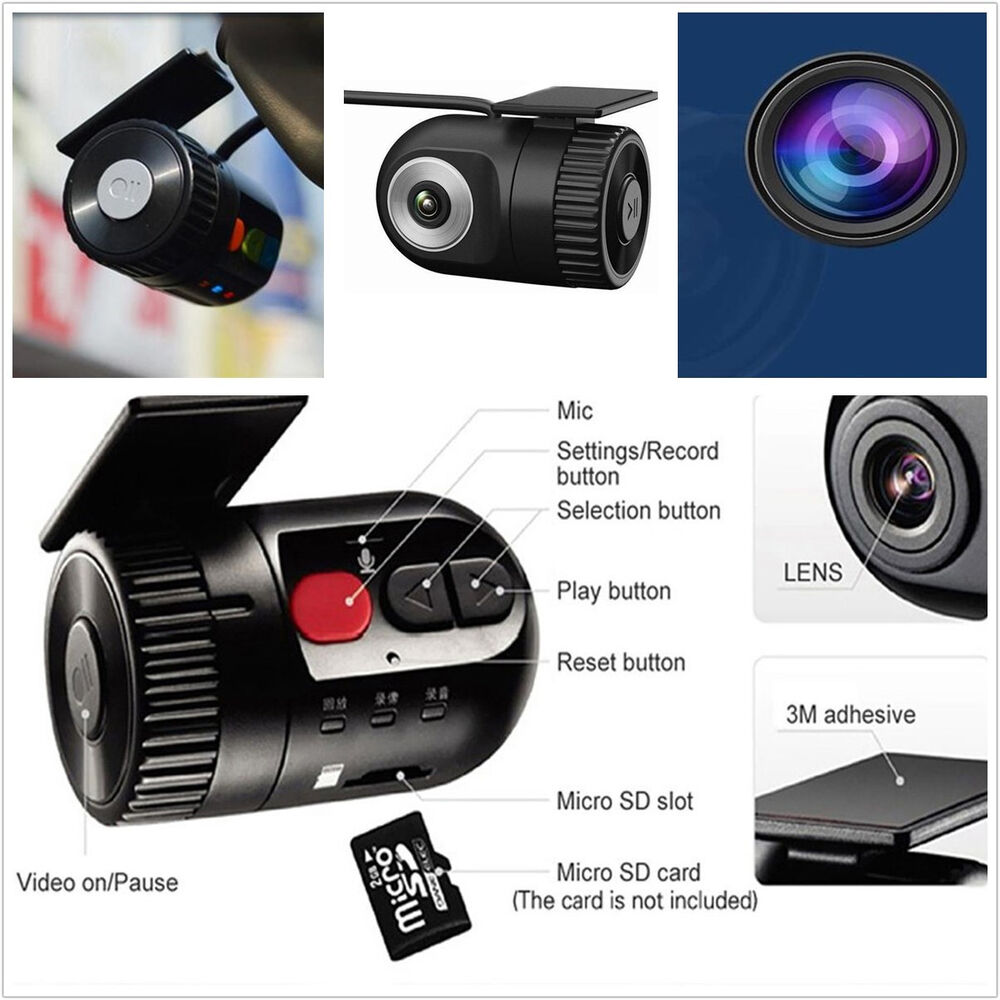 hd mini hidden no screen vehicle tachograph driving camera dvr recorder dash cam ebay. Black Bedroom Furniture Sets. Home Design Ideas