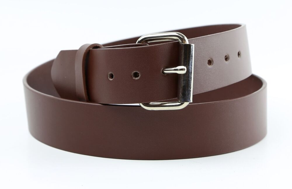 brown leather belt heavy duty 4mm thick 1 3 4 quot or 44mm