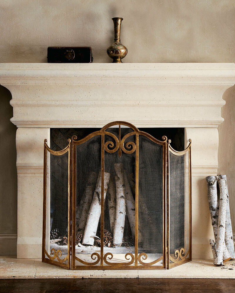french provincial fire screen guard antique gold wrought iron quality new ebay. Black Bedroom Furniture Sets. Home Design Ideas