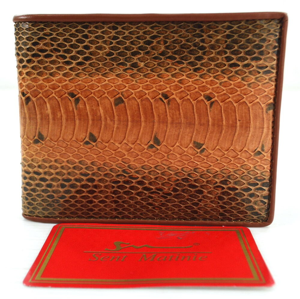 100 Genuine Python Snake Skin Leather Men S Bifold Wallet