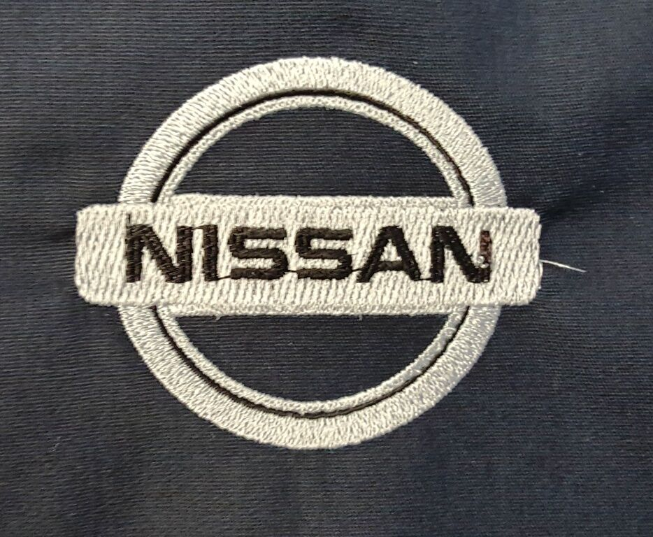 New custom dickies ls535 black embroidered nissan logo for Embroidered dickies work shirts
