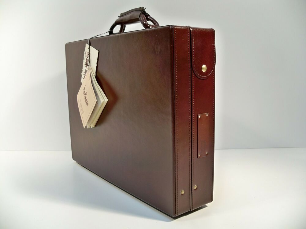 hartmann cordovan belting leather attache 4 quot briefcase