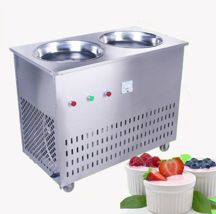 Double Pan Fried Ice Cream Machine Stir Yogurt Machine Fry