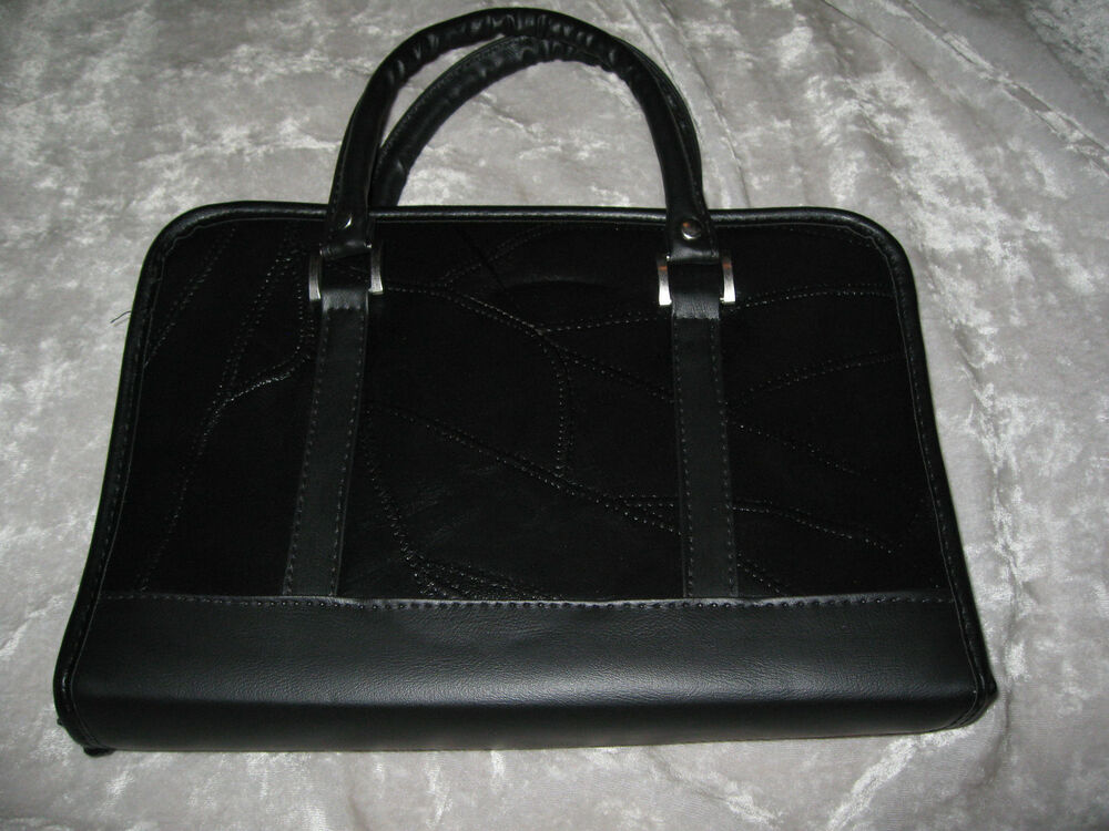 Black Leather Book Cover : Genuine black leather bible cover handles zipper holy book